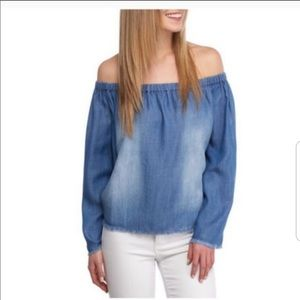 Anthropologie Cloth & Stone Off The Shoulder Top